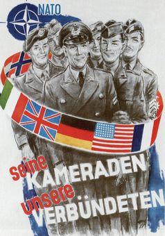 Werbeplakat für die NATO, Illustration von Helmuth Ellgaard