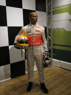 Lewis Hamilton als Wachsfigur (Symbolbild)