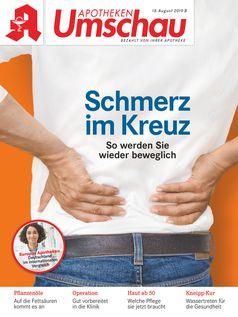 """Titelbild Apotheken Umschau AU B 8/2019 Bild: """"obs/Wort & Bild Verlag - Gesundheitsmeldungen"""""""