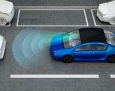 Animation eines autonom fahrenden Autos.