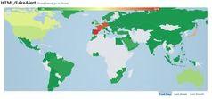 Bedrohungslage HTML/FakeAlert Global. Bild: ESET