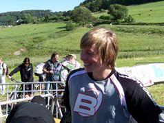 Der 15 jährige Willinger Lokalmatador Kevin Kruk. Bild: Frank Breuers
