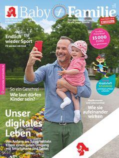 """Titelbild Baby und Familie 8/2019 / Bild: """"obs/Wort & Bild Verlag - Gesundheitsmeldungen"""""""