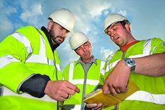 Bauarbeiter: könnten von Exoskelett profitieren. Bild: flickr.com/Bilfinger