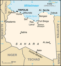 Karte von Libyen