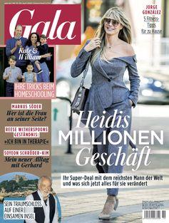 """Ex-Kanzler Schröder serviert seiner Frau gebratene Champignons / GALA Cover 19/20 (EVT: 30.04.2020) /  Bild: """"obs/Gruner+Jahr, Gala"""""""