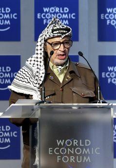 Jassir Arafat(Weltwirtschaftsforum in Davos/28. Januar 2001)