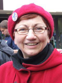 Inge Höger beim Ostermarsch Rhein-Ruhr 2012