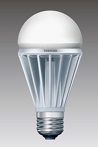 LED-Birne (fast) so hell wie 60-Watt-Glühlampe. Bild: tlt.co.jp
