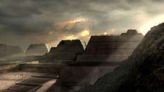 Um das Jahr 1100 nach Christus entstand der erste der prachtvollen Kolossalbauten in Tucume. Alle 26 Pyramiden waren bewohnt. Sie dienten als Paläste für die Adelsfamilien. Archäologen vermuten, dass die geheimnisvollen Bauwerke für die Lambayeque die magische Kraft von Bergen besaßen. Die Götter wohnten in den Bergen, also sollten die Herrscher auf Pyramiden residieren. Bild: ZDF und BBC, Clarkes