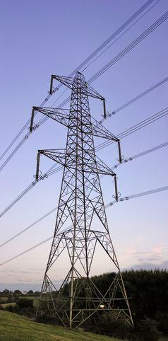 Freileitungsmast einer Stromtrasse