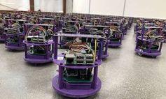 100 Roboter beim Test an der Northwestern University.