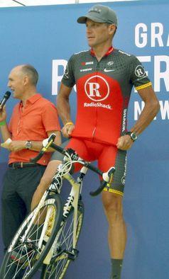 Lance Armstrong bei der Tour de France-Teampräsentation 2010