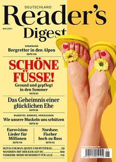 Cover der Mai-Ausgabe des Magazins Reader's Digest Bild: Reader's Digest Deutschland Fotograf: Reader's Digest Deutschland