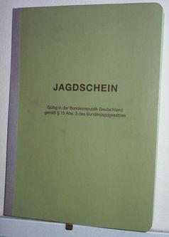 Jagdschein der Bundesrepublik Deutschland. Bild: wikipedia.org