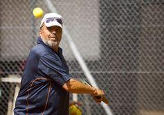 Tennisspieler: Sport erhöht die Lebenserwartung.