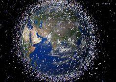 Müllhalde Weltraum: Japan will mit Netzen säubern. Bild: FlickrCC/keithfiore)