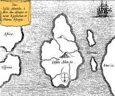 Atlantis: doch nicht auf Google Earth zu sehen. Bild: Wikipedia