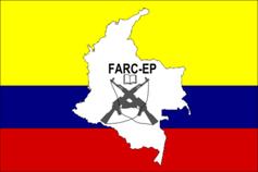 "Flagge der Rebellengruppe ""Revolutionäre Streitkräfte Kolumbiens"" (FARC)"