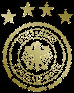 Logo der deutschen Fußballnationalmannschaft mit Adler, seit der WM 1990 in Verwendung.