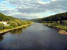 Elbe bei Bad Schandau Bild: Chr95 / de.wikipedia.org
