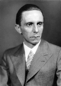 Joseph Goebbels, Aufnahme von Heinrich Hoffmann