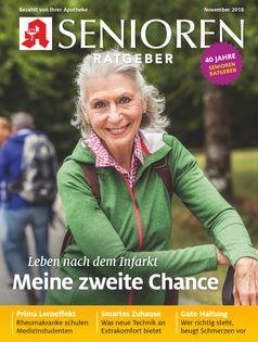 """Titelbild Senioren Ratgeber November 2018 Bild: """"obs/Wort & Bild Verlag - Senioren Ratgeber"""""""