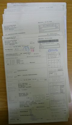 Tatblatt einer Strafanzeige in der Endsachbearbeitung der Polizei, noch ohne KAN-Nr. und Aktendeckel (Symbolbild)