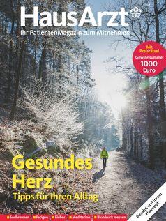 """Titelcover HausArzt-Patientenmagazin Ausgbe 1/2021. Bild: """"obs/Wort & Bild Verlag - Gesundheitsmeldungen/W&B"""""""