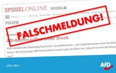 Unterlassungserklärung des SPIEGEL bzgl. Fakenews über AfD-Sprecher in Duisburg