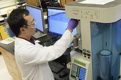 Laboranlage zur Herstellung von Natriumpulver.