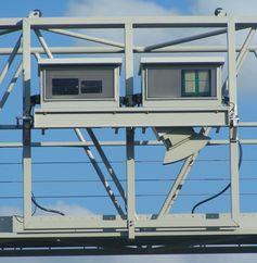 Maut: Detailansicht einer Kontrollbrücke