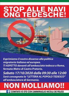 Flyer: STOPPT DIE DEUTSCHEN NGO-SCHIFFE!