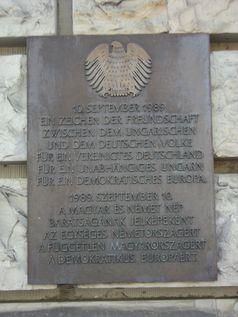 Gedenktafel - Ungarn für den 10.09.1989 - Grenzöffnung vom Reichstagsufer