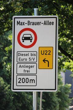 Dieselfahrverbot Verbotsschild