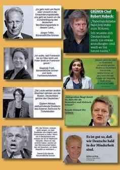 Mitglieder der Partei BÜNDNIS90/DIE GRÜNEN haben wenig bis kein Verständnis für die eigenen Wähler und stehen in der Kritik (Symbolbild)