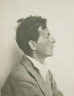 Ludwig Wittgenstein/Moriz Nähr, Ludwig Wittgenstein im Profil, ca. 1930,  Bild: Foto: The Ludwig Wittgenstein Archive Cambridge  Fotograf: Ludwig Wittgenstein