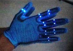 Leuchten: Leistungs-Nachweis für Nanogenerator.