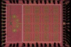 So sieht der Sub-Terahertzwellen-Chip im Inneren aus.