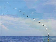 Zeitraffer: Drohnenstart per Trägerboje. Bild: NAVSEA-AUTEC