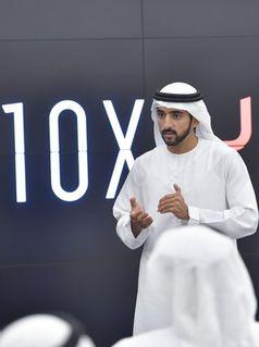 Seine Hoheit Scheich Hamdan bin Mohammed bin Rashid Al Maktoum, Kronprinz von Dubai und Chairman of the Board of Trustees der Dubai Future Foundation (2017)