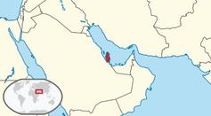 Das Königreich Katar auf der Karte