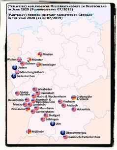 Ausländische Militärstandorte in Deutschland in 2020: Laut §120 Grundgesetz tragen die Steuerzahler die Kosten der Besatzungstruppen.