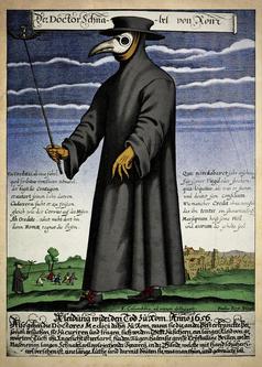 Arzt für sogenannte Infektionskrankheiten früher - Auch heutige Wissenschaft steht noch auf dem Stand von vor 500 Jahren (Symbolbild)