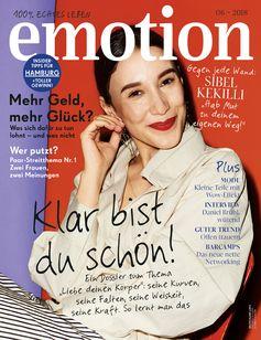 """EMOTION Verlag GmbH, Titelbild zu Ausgabe 06/2018, EVT: 02.05.2018, Titelthema: """"Klar bist du schön!"""". Bild: """"obs/EMOTION Verlag GmbH/Kathrin Makowski"""""""
