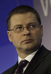 Valdis Dombrovskis Bild: World Economic Forum / Photo by Youssef Meftah
