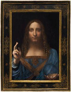 Salvator mundi Leonardo da Vinci, um 1500: Stellt das Bild eine Teuferin Maria dar mit einer Kugel?