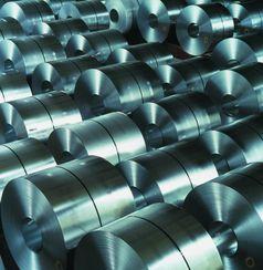 Zu Coils aufgewickeltes Stahlband