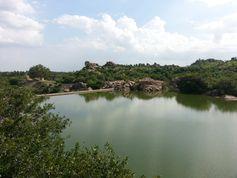 Die Hauptwasserquelle von Tiruvannamalai ist das Oberflächenwasser aus dem Then-Pennaiyar-Fluss Quelle: Foto: Strömer (idw)