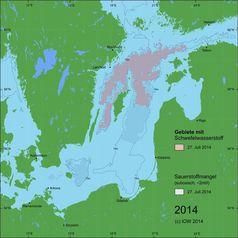 Abb. 2: Zentrale Ostsee im Juli 2014 – Situation nach dem Salzwassereinbruch. Quelle: (IOW) (idw)